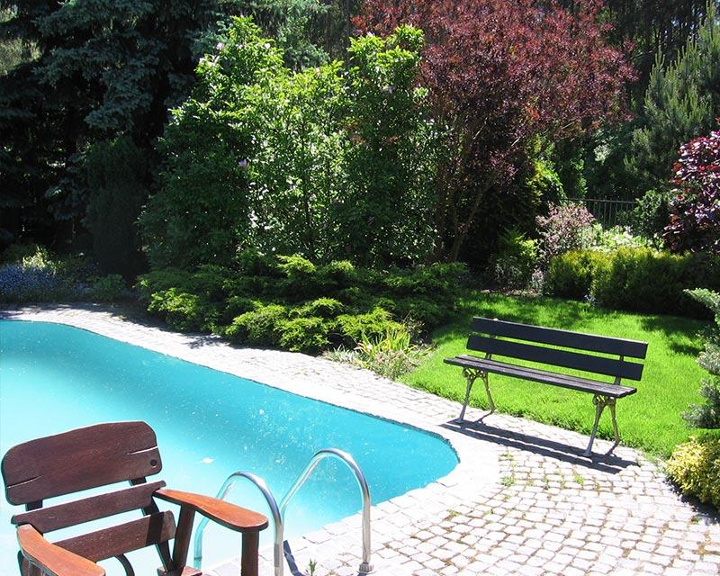 Ogród prywatny w Latchorzewiu