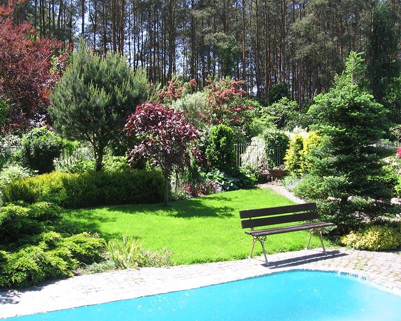 Ogród prywatny w Latchorzewie